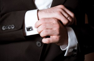 Hochzeitsanzug Ärmel Accessoire