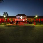 große orangerie schloss charlottenburg vorgarten bei nacht