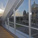 humboldt terrasse aussen mit sonnenuntergang