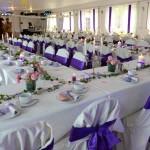 Wartenberger Hof Hochzeit Tafeln blau