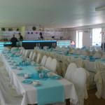 Wartenberger Hof Hochzeit Tafeln türkis