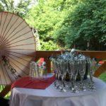 Sektempfang in der Villa Feodora